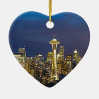 Ornamento De Cerâmica Cidade de Seattle durante o nivelamento do