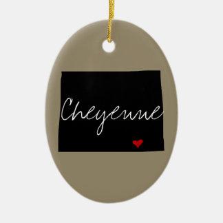 Ornamento De Cerâmica Cidade de Wyoming