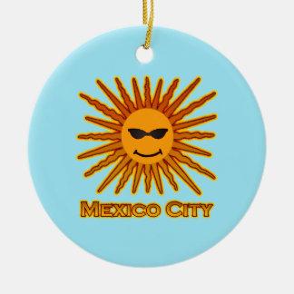 Ornamento De Cerâmica Cidade do México Sun enfrenta