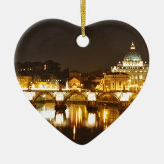 Ornamento De Cerâmica Cidade do Vaticano, Roma, Italia na noite