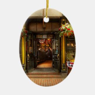 Ornamento De Cerâmica Cidade - MÃES de Boston - para o viajante cansado