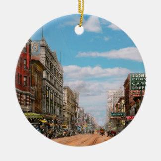 Ornamento De Cerâmica Cidade - Memphis TN - alameda 1909 da rua