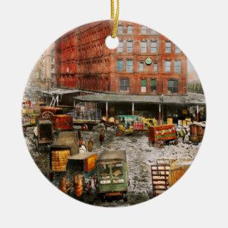 Ornamento De Cerâmica Cidade - New York NY - colada em uma rotina 1920