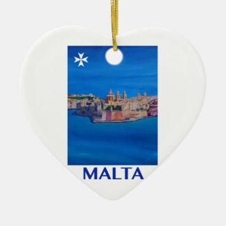 Ornamento De Cerâmica Cidade RETRO de Malta valletta do POSTER de