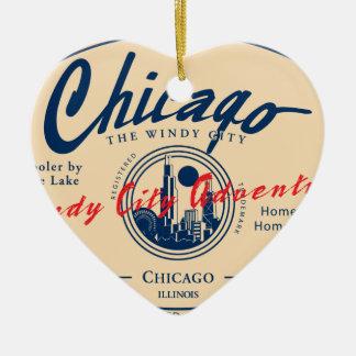 Ornamento De Cerâmica Cidade ventosa de Chicago