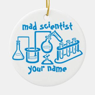 Ornamento De Cerâmica Cientista louco