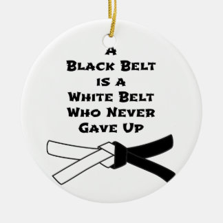 Ornamento De Cerâmica Cinturão negro