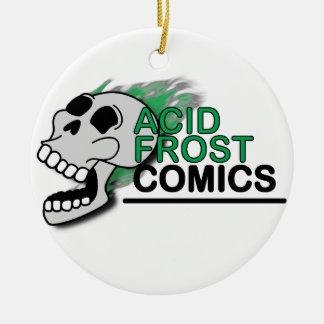 Ornamento De Cerâmica Círculo ácido do crânio da história em quadrinhos