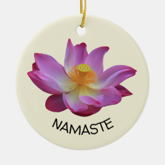 Ornamento De Cerâmica Círculo da ioga de Lotus Namaste