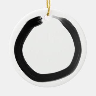 Ornamento De Cerâmica Círculo de Enso do budista de zen