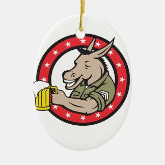 Ornamento De Cerâmica Círculo do bebedor de cerveja do asno retro