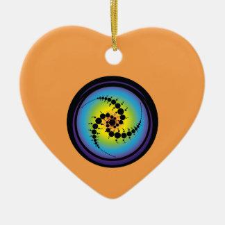 Ornamento De Cerâmica Círculo espiral triplo da colheita