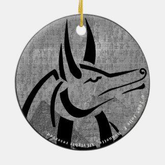 Ornamento De Cerâmica Círculo superior de Anubis