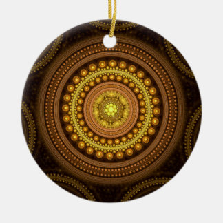 Ornamento De Cerâmica Círculos do Fractal