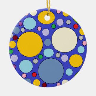 Ornamento De Cerâmica círculos e bolinhas