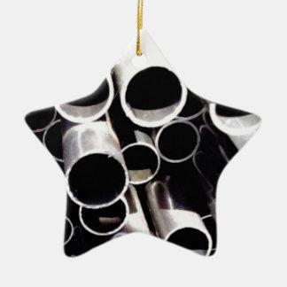 Ornamento De Cerâmica círculos empilhados do aço