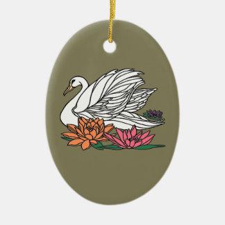 Ornamento De Cerâmica Cisne 2