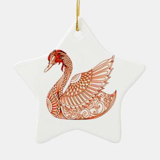 Ornamento De Cerâmica Cisne 3
