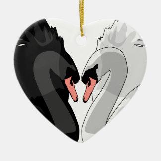 Ornamento De Cerâmica cisnes