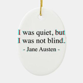 Ornamento De Cerâmica Citações de Jane Austen