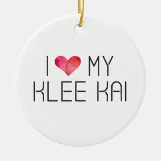 Ornamento De Cerâmica Citações do amor de Klee Kai