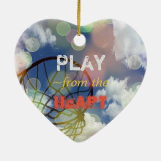 Ornamento De Cerâmica Citações do coração das posições do Netball