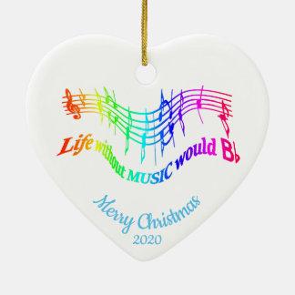 Ornamento De Cerâmica Citações inspiradas da música do Natal datado