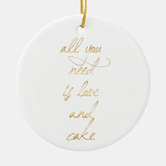 Ornamento De Cerâmica citações wedding, ouro, amor, romance, presentes