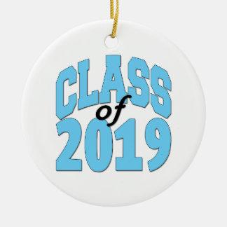 Ornamento De Cerâmica Classe do azul 2019