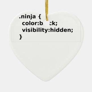 Ornamento De Cerâmica Classe do CSS do codificador de Ninja