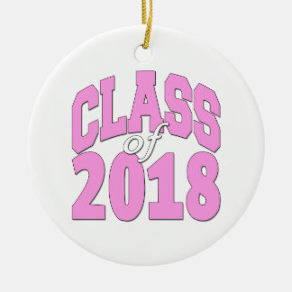 Ornamento De Cerâmica Classe do rosa 2018