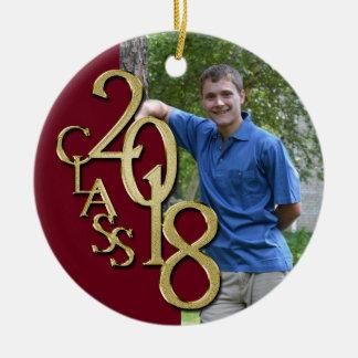 Ornamento De Cerâmica Classe foto graduada de Borgonha 2018 e de ouro
