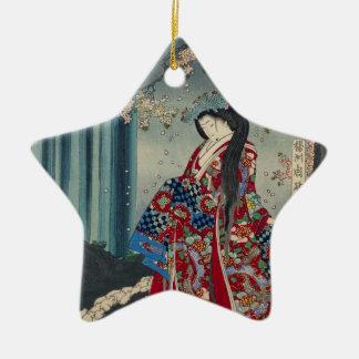 Ornamento De Cerâmica Clássico legal da arte japonesa da senhora Japão
