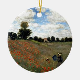 Ornamento De Cerâmica Claude Monet - Les Coquelicots