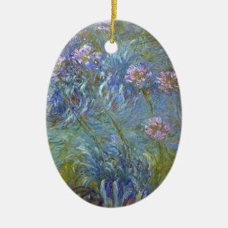 Ornamento De Cerâmica Claude Monet - pintura clássica das flores do