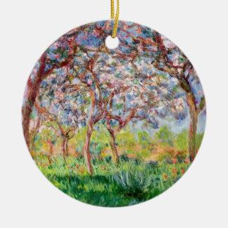Ornamento De Cerâmica Claude Monet | Printemps um Giverny