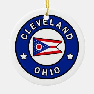 Ornamento De Cerâmica Cleveland Ohio