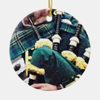 Ornamento De Cerâmica Close up do tocador de gaita-de-foles