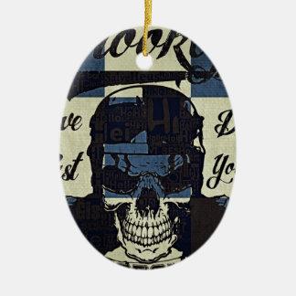 Ornamento De Cerâmica Clube da motocicleta de Brooklyn