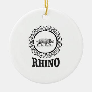 Ornamento De Cerâmica clube do rinoceronte