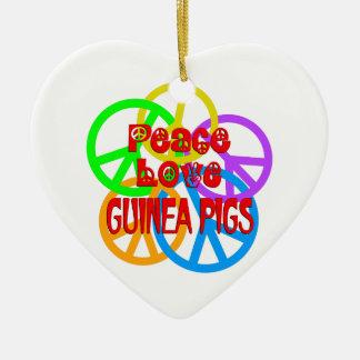 Ornamento De Cerâmica Cobaias do amor da paz