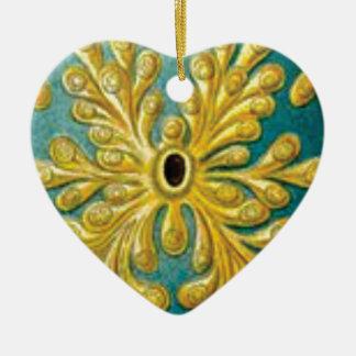 Ornamento De Cerâmica cobrir das folhas do ouro