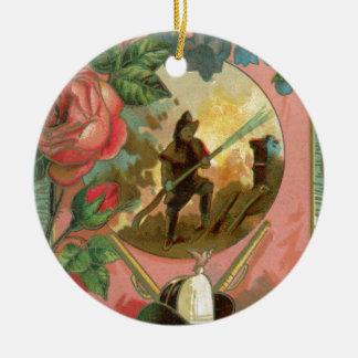 Ornamento De Cerâmica Cobrir do sapador-bombeiro do bombeiro dos 1880's