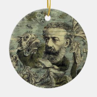 Ornamento De Cerâmica Cobrir periódico de Jules Verne do vintage