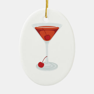 Ornamento De Cerâmica Cocktail de Manhattan