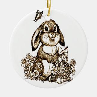 Ornamento De Cerâmica Coelhinho da Páscoa