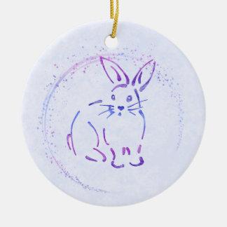 Ornamento De Cerâmica Coelho de coelho doce - adicione o texto ao estilo