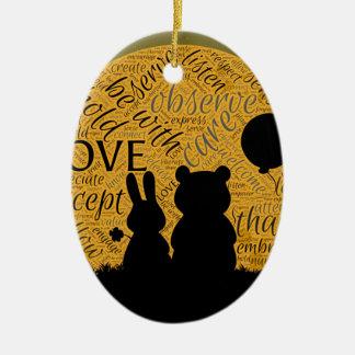 Ornamento De Cerâmica Coelho do amor