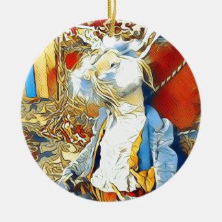 Ornamento De Cerâmica Coelho do circo