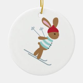 Ornamento De Cerâmica Coelho do esqui